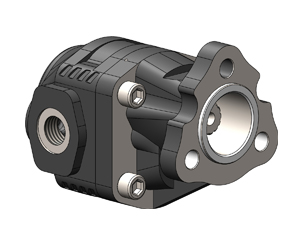 Шестеренчатые насосы NPLH UNI 13 DIN, рабочий объем от 6 до 40. см³/об (л/мин при 1000 об/мин, давление до 280 бар, присоединительный стандарт UNI (3 отверстия) 13 DIN ( 13 шлицов и вал 19х22)