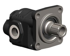 Шестеренчатые насосы NPLU ISO (4 отверстия), с боковыми и задними присоединительными отверстиями, рабочий объем от 10 до 40 см³ об (л/мин при 1000 об/мин). максимальное рабочее давление до 325 бар