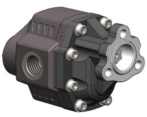 Шестеренчатые насосы LTH UNI, рабочий объем от 43 до 100 см³/об (л/мин при 1000 об/мин), максимальное рабочее давление до 230 бар, присоединительный стандарт UNI (3 отверстия)