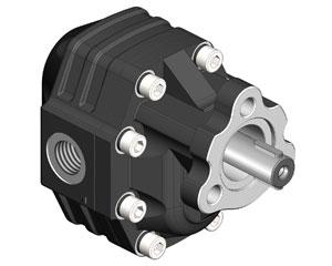 Шестеренчатый насос_OMFB NPH UNI D.22, рабочий объем от 40 до 123 см³/об (л/мин при 1000 об/мин) давление до 300 бар), присоединение: фланец (3 отверстия) цилиндрический вал (Ø 22 мм) со шпонкой