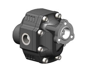 Шестеренчатые насосы NPGH UNI рабочий объем от 63 до 150 см³/об (л/мин при 1000 об/мин) максимальное рабочее давление до 290 бар, присоединительный стандарт UNI