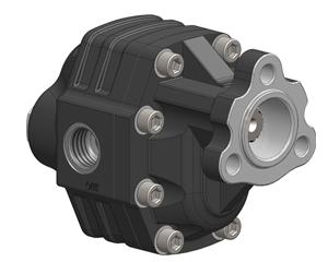 Шестеренчатые насосы NPH DIN, рабочий объем от 60 до 82 см³/об (л/мин при 1000 об/мин) максимальное давление давление до 250 бар, однонаправленное вращение, боковое и заднее присоединение