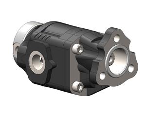 Шестеренчатые насосы NPLH ISO (четыре отверстия), с боковыми и задними присоединительными отверстиями, рабочий объем от 6 до 40. см³/об (л/мин при 1000 об/мин давление до 325 бар